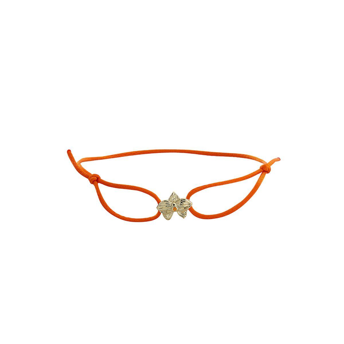 Allyn's Orchard 14k Gold Orange Silk Cord Bracelet