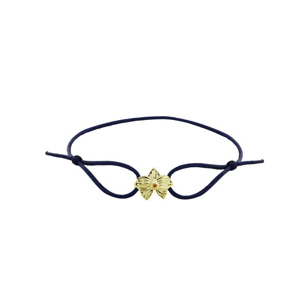 hello-dolly-14k-yellow-gold-allyn's-orchid-cz-blue-silk-cord-bracelet